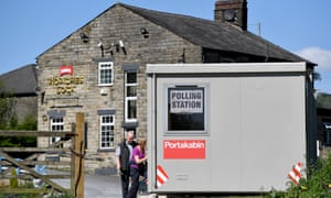 A polling station in Mossley, Tameside.