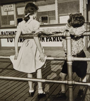 "Martin ElkortPuppy Love, Coney Island Boardwalk, New York, c. 1951 ""I am not young enough to know everything"". OSCAR WILDEEst $1,500 - 2,000"