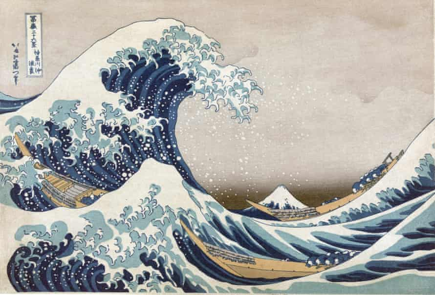 The Great Wave off the coast at Kanagawa, c1830. From 'Thirty-six Views of Mount Fuji', c1831. Katsushika Hokusai (1760-1849) Japanese Ukiyo-e artist. Men crouch in boats as huge wave towers over them. Sea PowerUNSPECIFIED - CIRCA 1754: The Great Wave off the coast at Kanagawa, c1830. From 'Thirty-six Views of Mount Fuji', c1831. Katsushika Hokusai (1760-1849) Japanese Ukiyo-e artist. Men crouch in boats as huge wave towers over them.