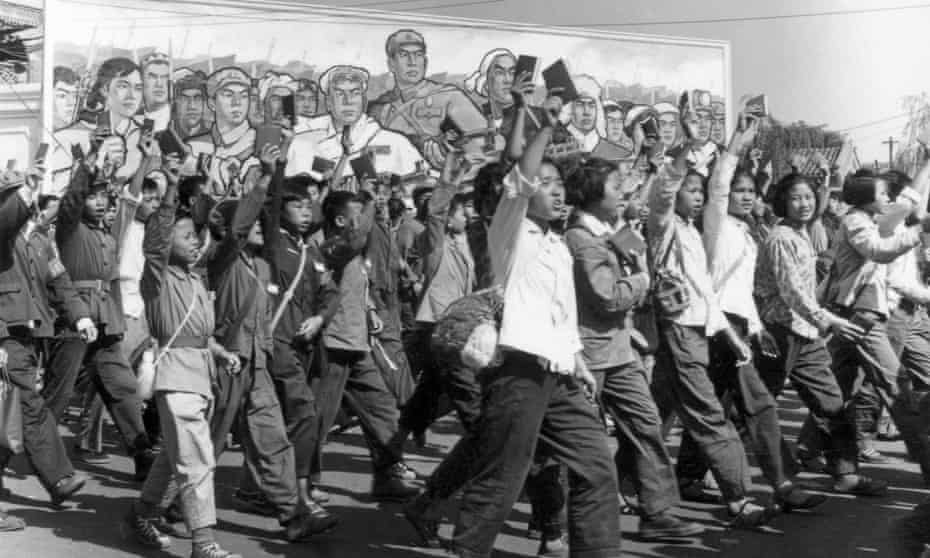 Students wave copies of Mao Zedong's Little Red Book at the start of the Cultural Revolution, Beijing, 1966