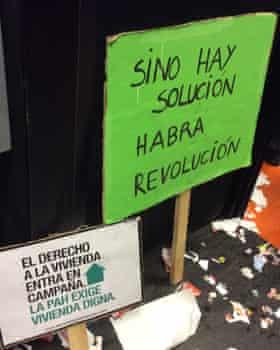 PAH protest placards