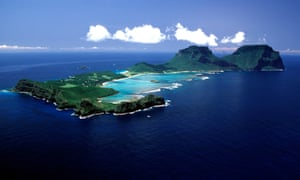 An aerial view of Lord Howe Island.