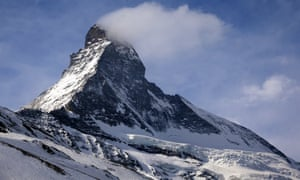 The Matterhorn mountain is pictured in Zermatt, Switzerland, March 15, 2015. The remains of two young Japanese climbers missing on the Matterhorn mountain since a 1970 snow storm in the Swiss Alps have been identified through DNA testing of their relatives, police said on Thursday. Human bones spotted by a climber last September on a shrinking glacier at an altitude of 2,800 meters were sent to the medical examiner for identification, cantonal (state) police in the Valais said. Picture taken March 15, 2015. REUTERS/Denis Balibouse