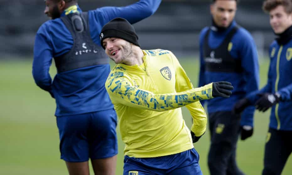 Jack Wilshere training with Bournemouth, who will reach their first FA Cup semi-final if they beat Southampton on Saturday.