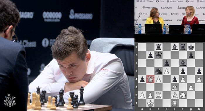 Magnus Carlsen surprises Fabiano Caruana with draw offer in