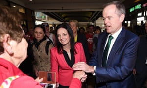 Emma Husar with Bill Shorten during a visit to Penrith in 2016.