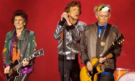 Ron Wood, Mick Jagger and Keith Richards