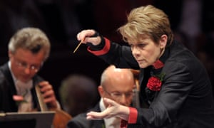 Marin Alsop and the BBC Symphony Orchestra.