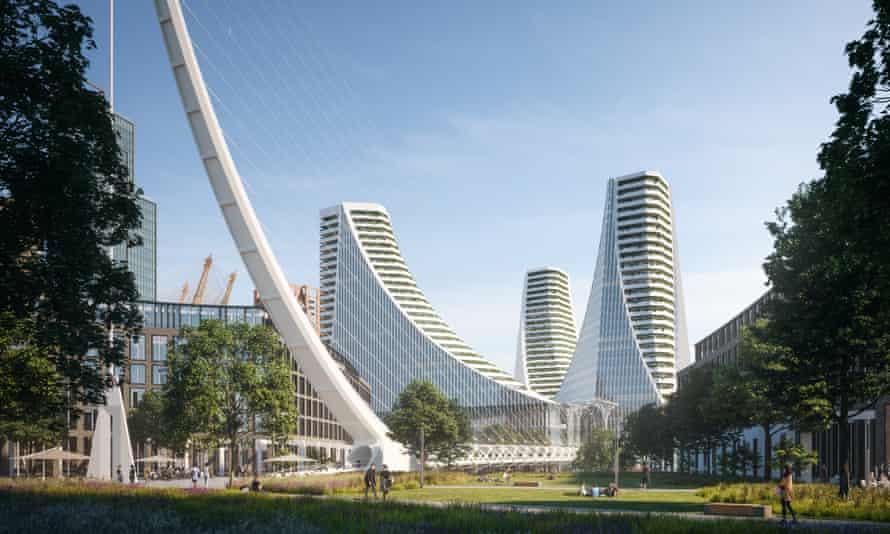 Santiago Calatrava's 1.4 million sq ft Peninsula Place.