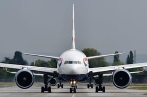 A British Airways plane at Heathrow airport.
