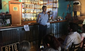 Beto O'Rourke speaks at the Cactus Cafe in Culberson county.