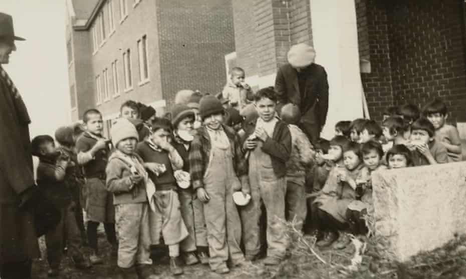 A handout photo made available by the National Centre for Truth and Reconciliation at the University of Manitoba reportedly shows children at the Kamloops Indian residential school in British Columbia in 1931.