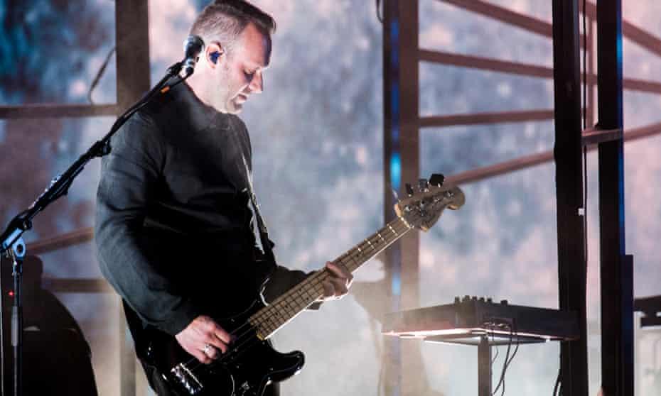 Georg Holm of Sigur Rós performs in Barcelona, Spain, in 2016.