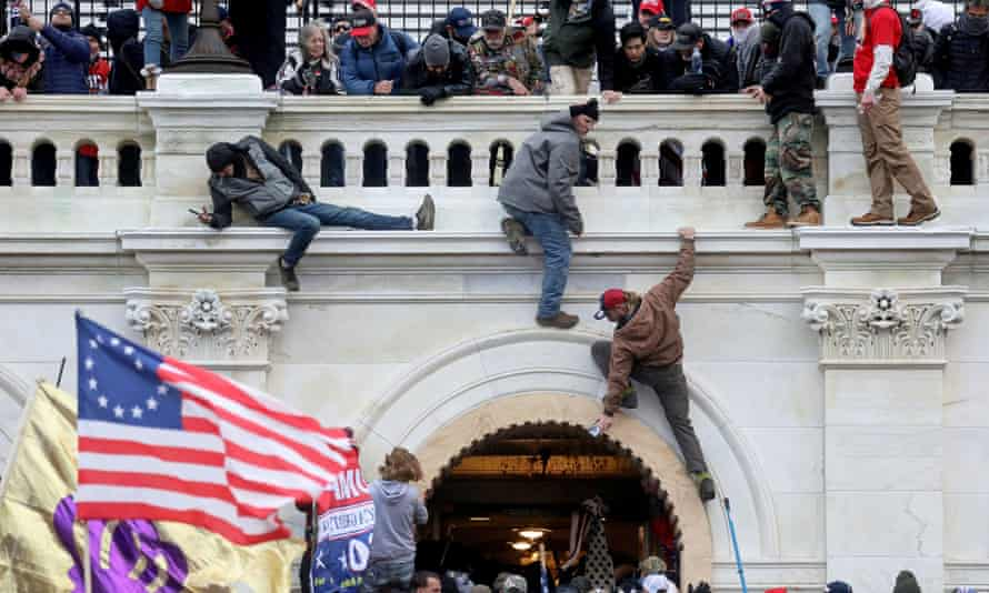 Trump supporters attack the US Capitol on 6 January.