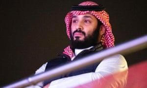 Saudi crown prince Mohammed bin Salman attended the bout in Riyadh