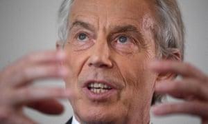 Former prime minister Tony Blair.