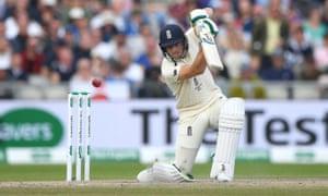 England batsman Jos Buttler drives.