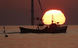 Blyth Pier, EnglandA fishing boat sails in front of the rising sun in Northumberland, at the start of a week in which the UK is expected to bask in temperatures of more than 30C