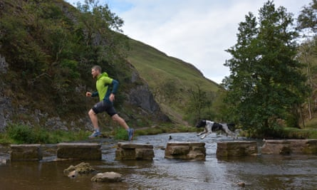 Leap of faith: running in Dovedale.