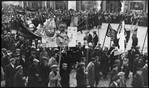 1920s – Demonstration in Kimry by Leonid ShokinThe organisers are keen that Russians themselves contribute images from their own personal archives too. Olga Sviblova, director of the Moscow Multimedia museum, says: 'We invite all internet users to participate in the restoration, conservation and popularisation of our visual history where personal stories from every family can be integrated into common Russian history'