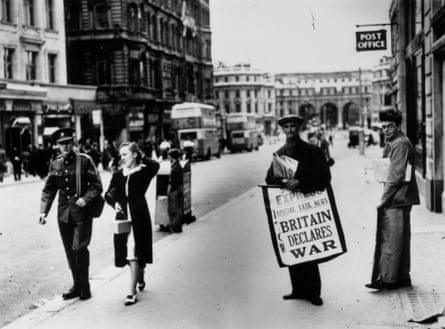 The Strand, London, at the beginning of the second world war.