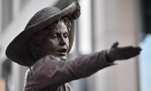 A statue of the suffragette Emmeline Pankhurst in St Peter's Square, Manchester.