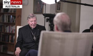Cardinal George Pell is interviewed by Andrew Bolt for Sky News