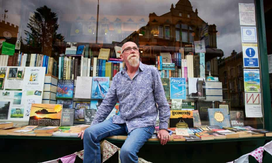 Bookshop owner Colin Lyall organises monthly meet-ups in Todmorden for UFO enthusiasts.
