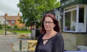 Jess Green, landlady of the Lighthouse pub, standing outside her premises.