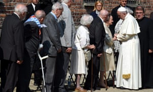 Francis meets former Auschwitz prisoners.