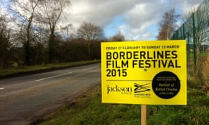 Borderlines film festival road sign