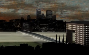 Concept artwork for Sam Jacob and Dutch artist Simon Heijdens's design, pictured at London Bridge.