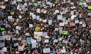 Hundreds of thousands of people attended the March for Our Lives rally in Washington, DC, filling Pennsylvania Avenue.