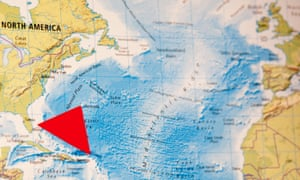 Bermuda Triangle: an area of the western North Atlantic where ships and planes are said to have vanished without trace.