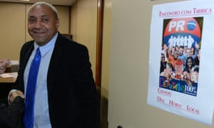 Tiririca, real name Francisco Everardo Oliveira Silva, pictured in 2013 while campaigning for re-election.