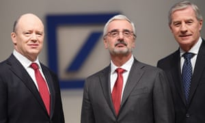 Deutsche Bank shareholders' meeting: (from left) John Cryan, Jürgen Fitschen and Paul Achleitner