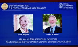 The winners of this year's Nobel prize in economic sciences are announced at a news conference in Stockholm