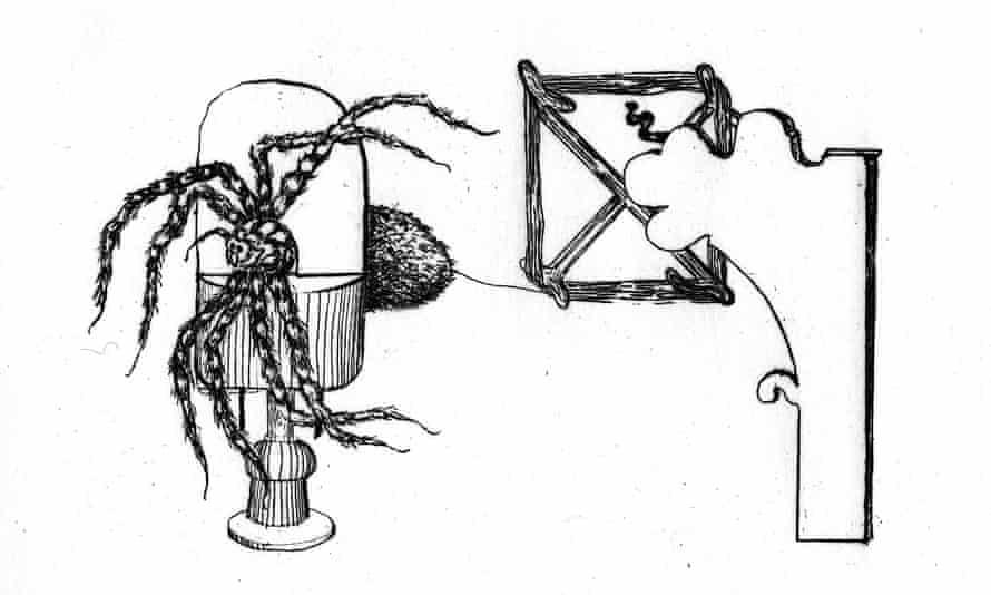 Spider silking machine by Termeyer