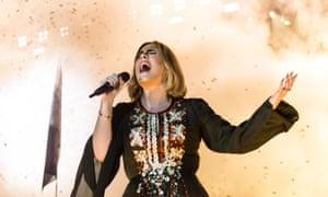 Adele headlined Glastonbury festival this year.