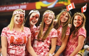 Canadian fans representing the host nation