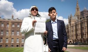 Fatima Boudchar and her son Abderrahim