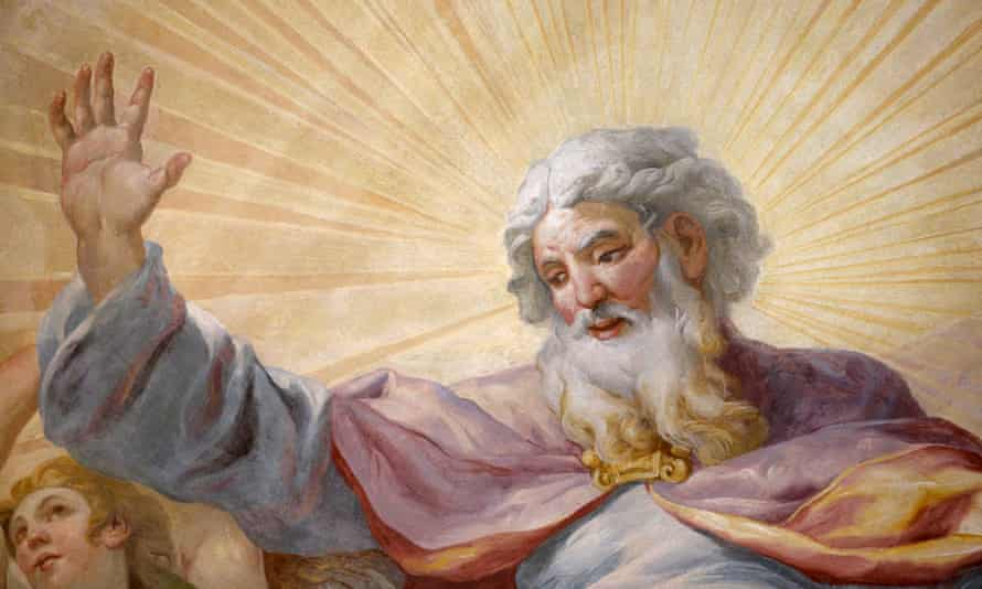 God, as depicted on the dome fresco by Johann Michael Rottmayr at Karlskirche (St. Charles's Church) in Vienna.