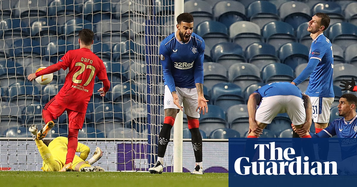 Europa League: Rangers must wait after losing two-goal lead to Benfica
