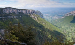 Vercors The view north-west over Combe Laval