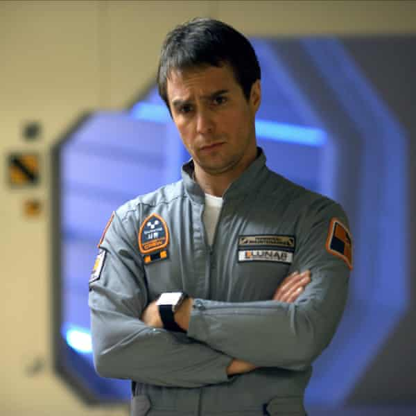 'I was very monk-like during that period, just going to the gym and eating chicken, rolling cigarettes and drinking coffee' ... Sam Rockwell in Moon.