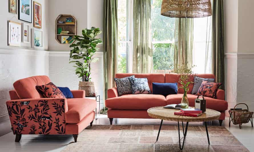 Joules Patterdale furniture, from DFS. The retailer says customers are opting for brighter colours.