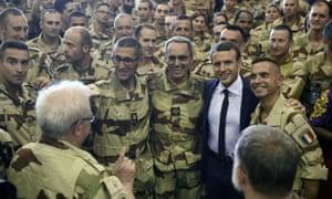 Emmanuel Macron visits troops