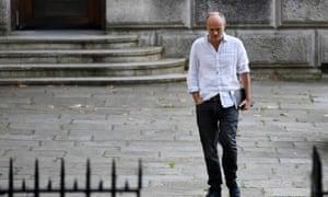 Dominic Cummings, Boris Johnson's de facto chief of staff, arriving at Downing Street.