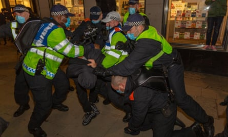 A scuffle during the Million Mask March
