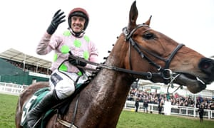Ruby Walsh and Let's Dance after pulling off the four-timer.